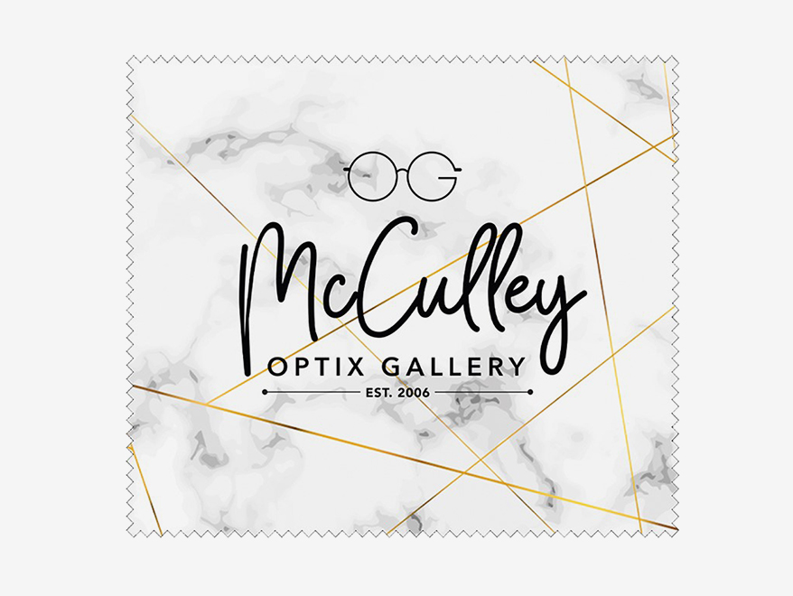 McCulley Optix Gallery cleaning cloth
