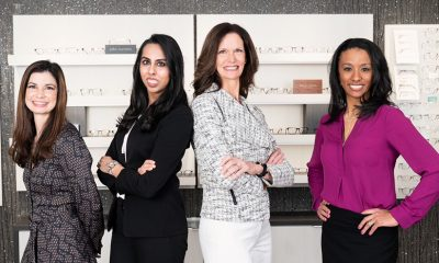 Bellaire Family Eye Care's eye doctors (from left): Marcia Moore, OD; Aamena Kazmi, OD; founder Ann Voss, OD; and Ashley Tucker, OD.