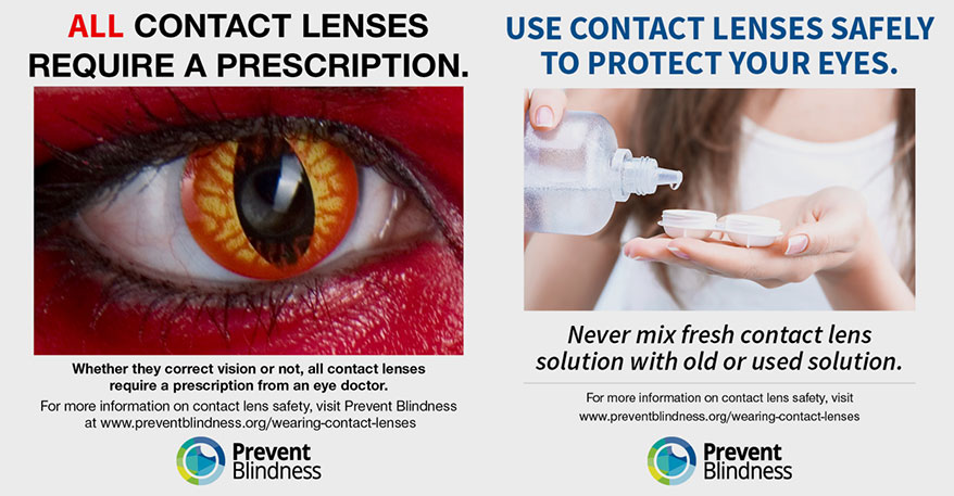 Prevent Blindness Declares October as Contact Lens Safety Month