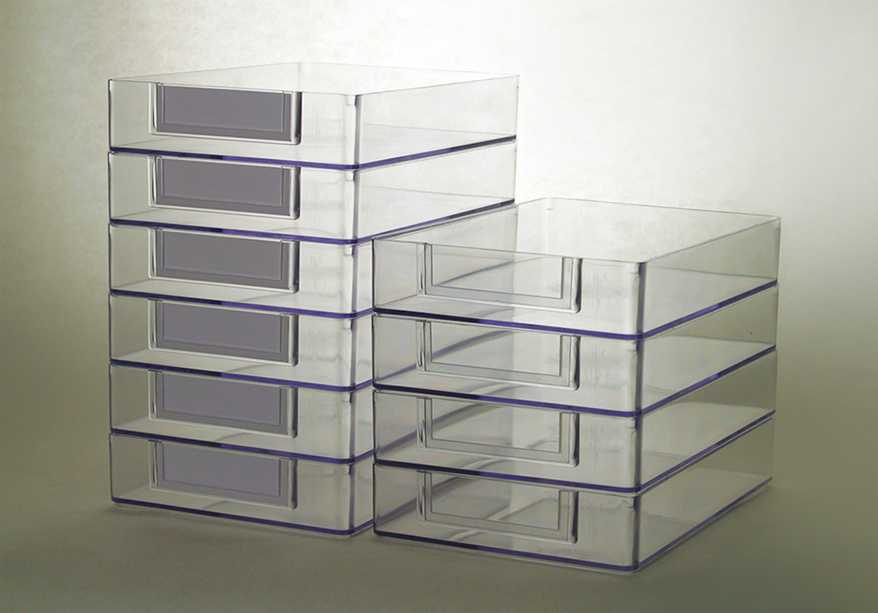see-through shop trays from WESTERN OPTICAL SUPPLY