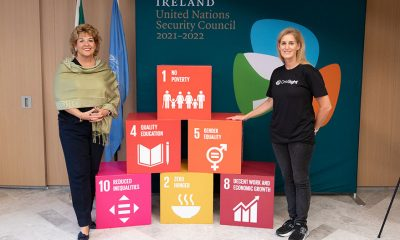 H.E. Ambassador Geraldine Byrne Nason, Permanent Representative of Ireland to the United Nations and UN Friends of Vision co-chair with K-T Overbey, OneSight's President & Executive Director.