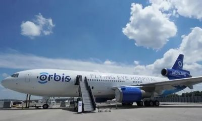 The Orbis Flying Eye Hospital provides eye surgeries and plays a key role in training local eyecare teams.